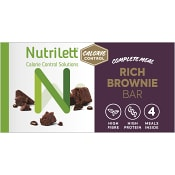 Rich brownie bar Viktkontroll 58g 4-p  Nutrilett