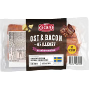 Grillkorv Bacon & ost 480g Scan