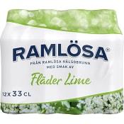 Vatten Kolsyrad Fläder & lime 33cl 12-p Ramlösa