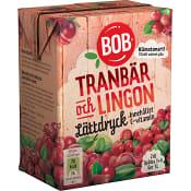 Lättdryck Lingon & tranbär Koncentrat 2dl BOB