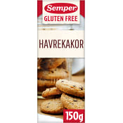 Havrekakor Glutenfri 150g Semper
