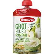Mellanmål Gröt Yoghurt Äpple & päron 120g Semper
