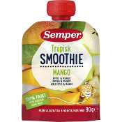 Smoothie tropisk Äpple & mango Från 6m 90g Semper