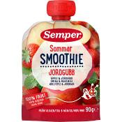 Smoothie sommar Äpple & jordgubb Från 6m 90g Semper