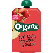 Barnmat Mellanmål Apple & strawberry Ekologisk 190g Semper