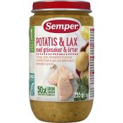 Potatis & lax med örter Från 1år 235g Semper