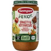 Spagetti & köttfärssås Från 1år 235g KRAV Semper