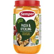 Pasta & kyckling Från 1år 235g KRAV Semper