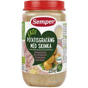 Potatisgratäng med skinka Från 1år 235g KRAV Semper