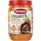 Stroganoff m biff & ris 6m 190g Semper