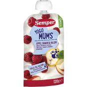 Yoghurt Äpple banan och hallon Från 1 år 120g Semper