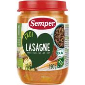 Lasagne 1 år 190g KRAV Semper