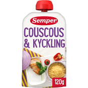 Couscous & kyckling Från 6m 120g Semper