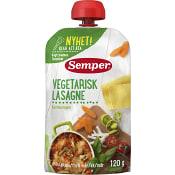 Barnmat Vegetarisk lasage 6m 120g Semper