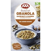 Granola Hasselnöt & cashew 475g AXA