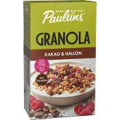 Granola Kakao & hallon 450g Paulúns