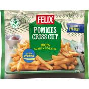 Pommes criss cut Fryst 850g Felix