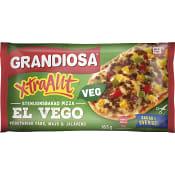 Färdigmat Pizza X-tra allt El Vego Fryst 165g Grandiosa