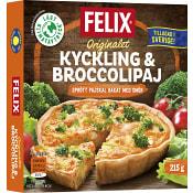 Kyckling & broccolipaj Fryst 215g Felix