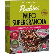 Supergranola Paleo Hasselnöt mandel & hallon 350g Paulúns