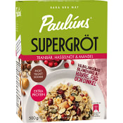 Supergröt Tranbär hasselnöt & mandel 500g Paulúns