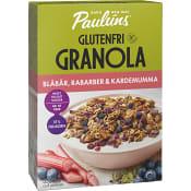 Granola blåbär & rabarber Glutenfri 350g Pauluns