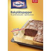 Bakplåtspapper 30 ark Miljömärkt Toppits