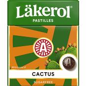 Halstabletter Cactus 25g Sockerfri Läkerol