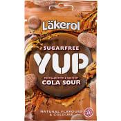 Halstabletter YUP Cola sour Sockerfri Pastiller 30g Läkerol