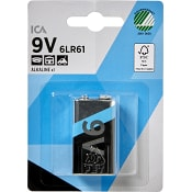 Batteri 9V 6LR61 1-p ICA Home