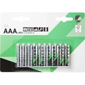 Batteri AAA LR03 10-p ICA Home