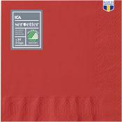 Servett Röd 40cm 50-p ICA Home