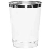 Engångsglas med silverkant 30cl 12-p ICA Cook & Eat