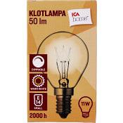 Klotlampa klar 11W E14 50lm 1-p ICA Home