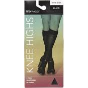 Knästrumpa Highs Opaque Svart 50den One Size 2-p mywear