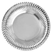 Engångsuppläggningsfat Runt Silver 31cm 3-p ICA Cook & Eat
