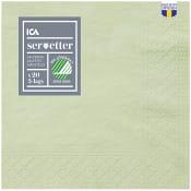 Servett Lingrön 24cm 20-p ICA Home