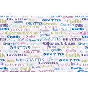 Presentp Grattis Metallic 0,7x2m ICA Home