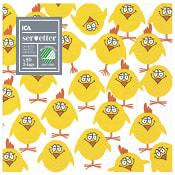 Servett Kyckling 33cm 20-p ICA Home
