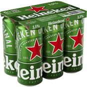Öl Lager 3,5% 50cl 6-p Heineken