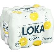 Vatten Kolsyrad Citron 33cl 12-p Loka