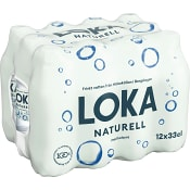 Vatten Kolsyrad Naturell 33cl 12-p Loka