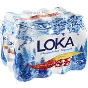 Vatten Kolsyrad Jordgubb & ananas 33cl 12-p Loka