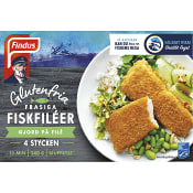 Frasiga fiskfiléer Glutenfri Fryst 4-p 340g Findus