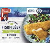 Fiskfiléer Panerad med franska örter Fryst 2-p 225g Findus