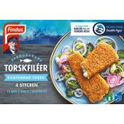 Torskfilé Sprödbakad Fryst 4-p 360g Findus