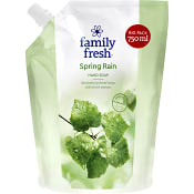 Spring rain Refill Flytande handtvål 750ml Family Fresh