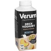Drickyoghurt Persika & passion Laktosfri 330ml Verum