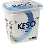 Cottage cheese Naturell 4% 500g Keso