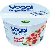 Yoghurt Original Jordgubb 2% 200g Yoggi